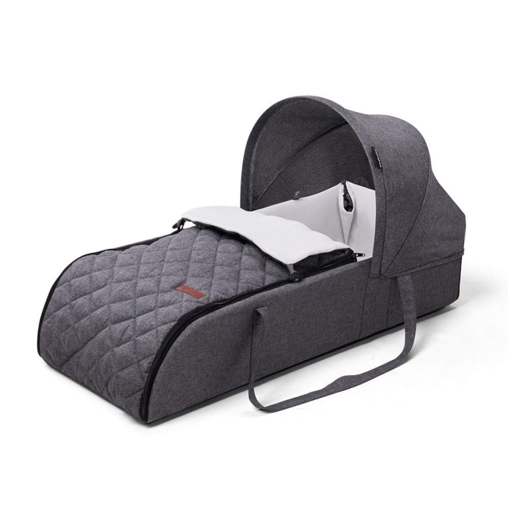 Portable Baby Carrier Bed, Newborn Baby Travel Portable Sleeping Recliner Sleeping Bag - Portable Cradle Bed - with canopy-29.5×14.1×7.0 inch