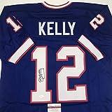 Autographed/Signed Jim Kelly Buffalo Blue Football