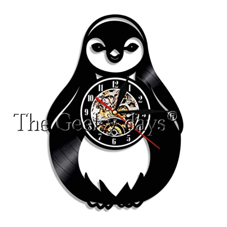 DFRTY Reloj de Pared Tres pingüinos Emperador Sala de Estar ...