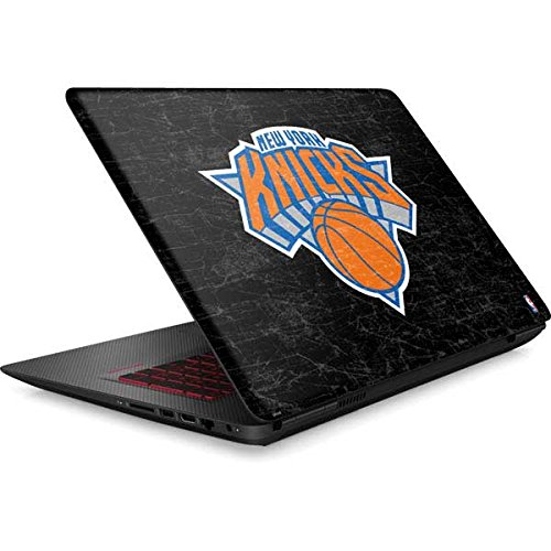 Skinit NBA New York Knicks Omen 15in Skin - New York Knicks Black Secondary Logo Design - Ultra Thin, Lightweight Vinyl Decal Protection by Skinit