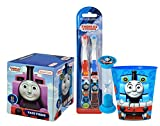 Thomas & Friends Kids Bathroom Set Featuring Thomas The Train! Includes Toothbrush, Brushing Timer, Rinse Cup, & Tissue Box!