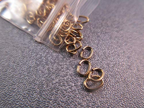 - 14K Gold Filled Oval 5x3mm Jump Rings 22 Gauge 20pcs