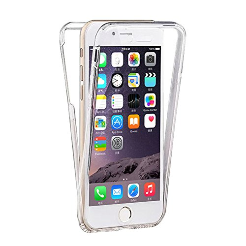 iPhone 6s Plus 5.5 Inch Case, iZi Way [Micro Dot - Anti Watermark] 360 Clear Full Coverage Protection Front + Back Case Cover for iPhone 6 Plus