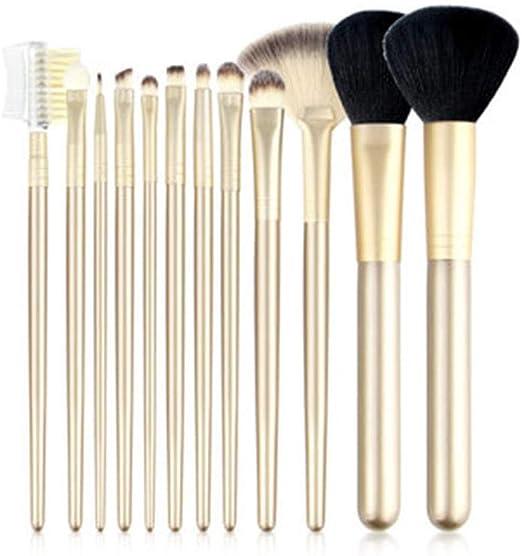 CC-Makeup Brush Set de Pinceles para Maquillaje de Ojos: el Mejor Set de brochas de Mezcla de Ojos Veganas Profesionales de 12 Piezas - Champagne Gold: Amazon.es: Hogar