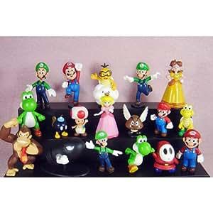 """18pcs Set 1-3"""" Super Mario Bros Figure Toy Doll Pvc Figure Collectors By sanlise"""