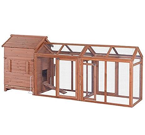 mcombo 0319 Deluxe Large pollo aves gallinero Hen House gallinero jaula: Amazon.es: Jardín