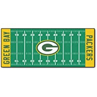 Fanmats 7352 NFL Green Bay Packers Nylon Face Football Field Runner, Team Color, 30x72