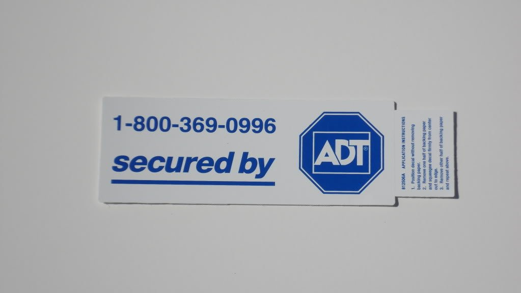 Amazoncom ADT SIGNS FOR SALE ADT Home Security Alarm System - Window decals for home security