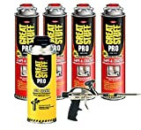 Dow Great Stuff Pro Gaps and Cracks Foam (4 cans) & Pro 14 & Gun Cleaner - 341557