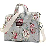 Low Price Canvaslove Grey Rose Pattern 15 Inch Canvas Waterproof Laptop Shoulder Messenger Bag For 14 Inch To156 Inch Laptop