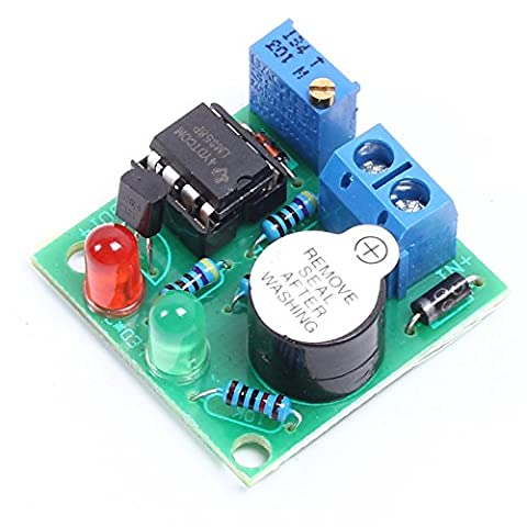 Icstation LM358 12V Car Lead Acid Battery Low Voltage Protector Alarm Over Discharge Protection Module with Buzzer (Lead Protector)