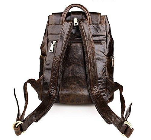 FRAZILL Damen und Mädchen Leder Rucksack Freizeit Taschen Schultertasche Hohe Qualität JM7306 (Kaffee) Kaffee t5xMy519dV