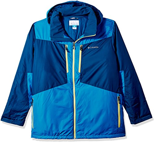Columbia Men's Big and Antimony Jacket, Phoenix Blue, Dark Compass, 3X Tall (Phoenix Waterproof Jacket)