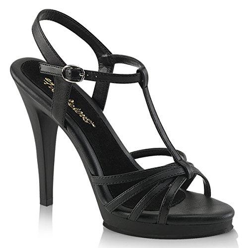 Fabulicious FLAIR-420 Damen Sandalette, PU Schwarz, EU 45 (US 14)