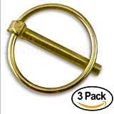 """Linch Pin with Ring 1/4"""" x 1-3/4 Inch (Pack of 3)"""