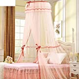 Satin lace ceiling nets/deluxe princess dome mosquito nets/lace net-B 180x200cm(71x79inch)