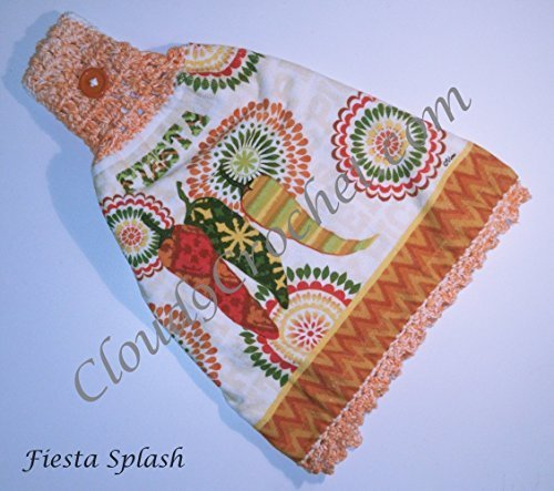Fiesta Themed Hanging Towel. A thoughtful, handmade gift that truly express your apprecation for a wonderful teacher. Hangs well on a BBQ grill!