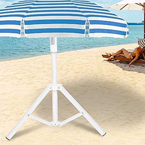 AUNMAS Sombrillas de Patio Soporte de pie Triangular Hierro Plegable Sombrilla Soporte Base para Playa Jardín Camping Pesca