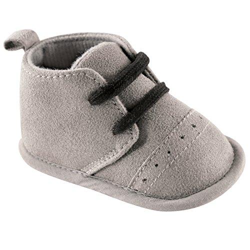 Luvable Friends Boy's Desert Boots (Infant), Gray, 12-18 Months M US Infant