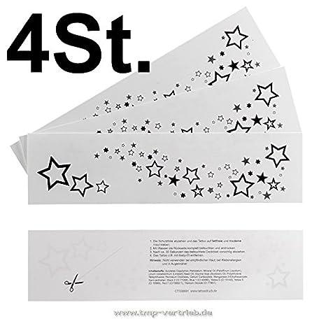 4 x Estrellas de Rihanna - Cartas de tatuajes temporal con ...