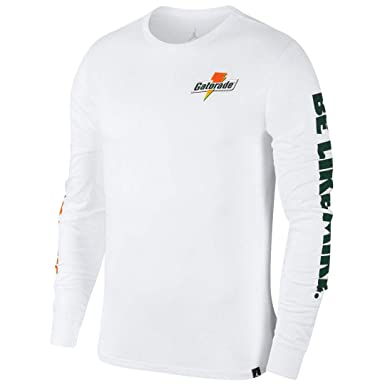 b7c810bfb8ca84 Image Unavailable. Image not available for. Color  Jordan Men s Be Like  Mike Gatorade Long Sleeve Shirt ...