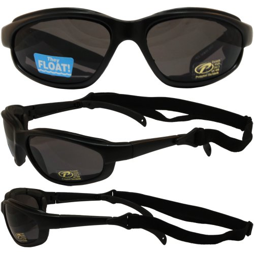 Freedom Padded Motorcycle Sunglasses By Pacific Coast Smoke Lens by Pacific Coast Sunglasses
