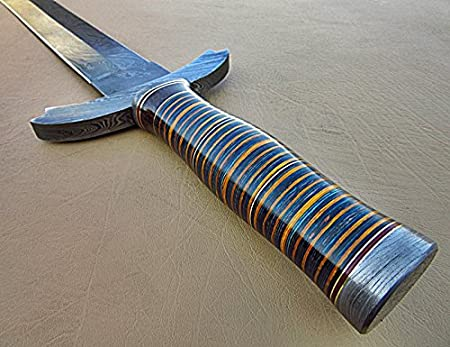 Amazon.com: sw-306, acero de Damasco hecho a mano 26.4 ...