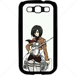Shingeki no Kyojin Attack on Titan Manga Anime Comic Mikasa Ackerman Samsung Galaxy S3 SIII I9300 TPU Soft Black or White case (Black)Kimberly Kurzendoerfer