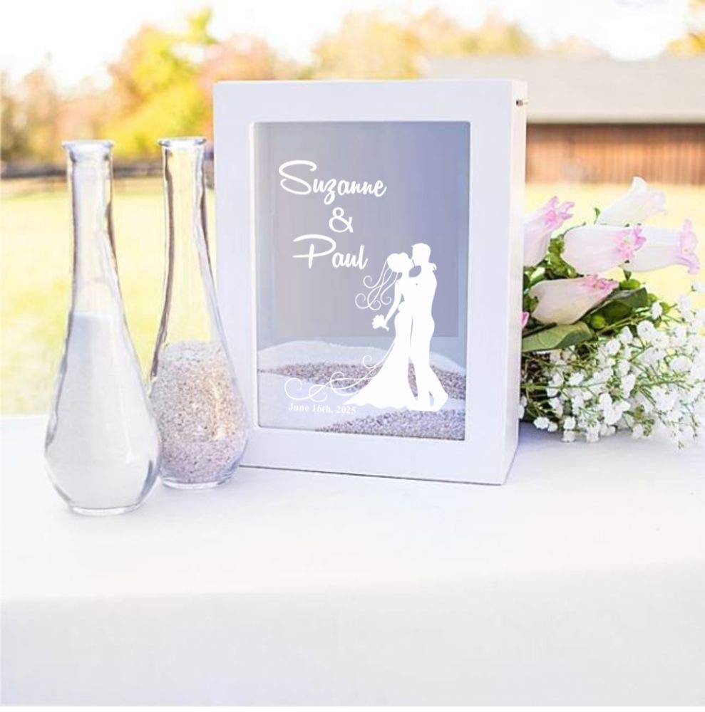 Making Memories and More White Wedding Unity Sand Shadow Box Set with Personalization