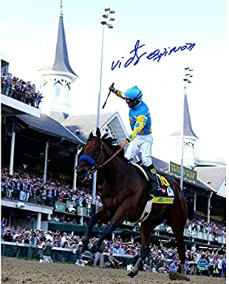 Victor Espinoza Signed 2015 Kentucky Derby 8x10 Photo