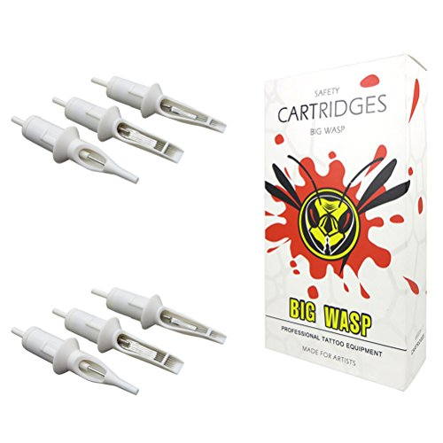 BIGWASP Professional 11RS Disposable Tattoo Needle Cartridge 11 Round Shader 20Pcs (Shader Needles Tattoo Round)