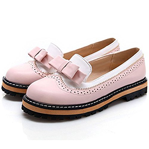 DoraTasia Women's Patent Leather Slip On Bowtie Loafers College Style Girls Casual Mocassin Shoes -
