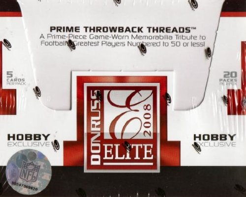 1 (One) Box - 2008 Donruss Elite Football Hobby Box (20 P...