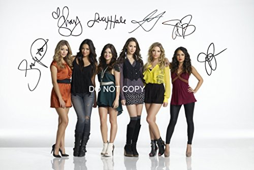 Pretty Little Liars gorgeous cast reprint signed 12x18 poster photo #1 RP