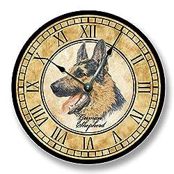 German Shepherd Dog Wall Clock Antique Decor