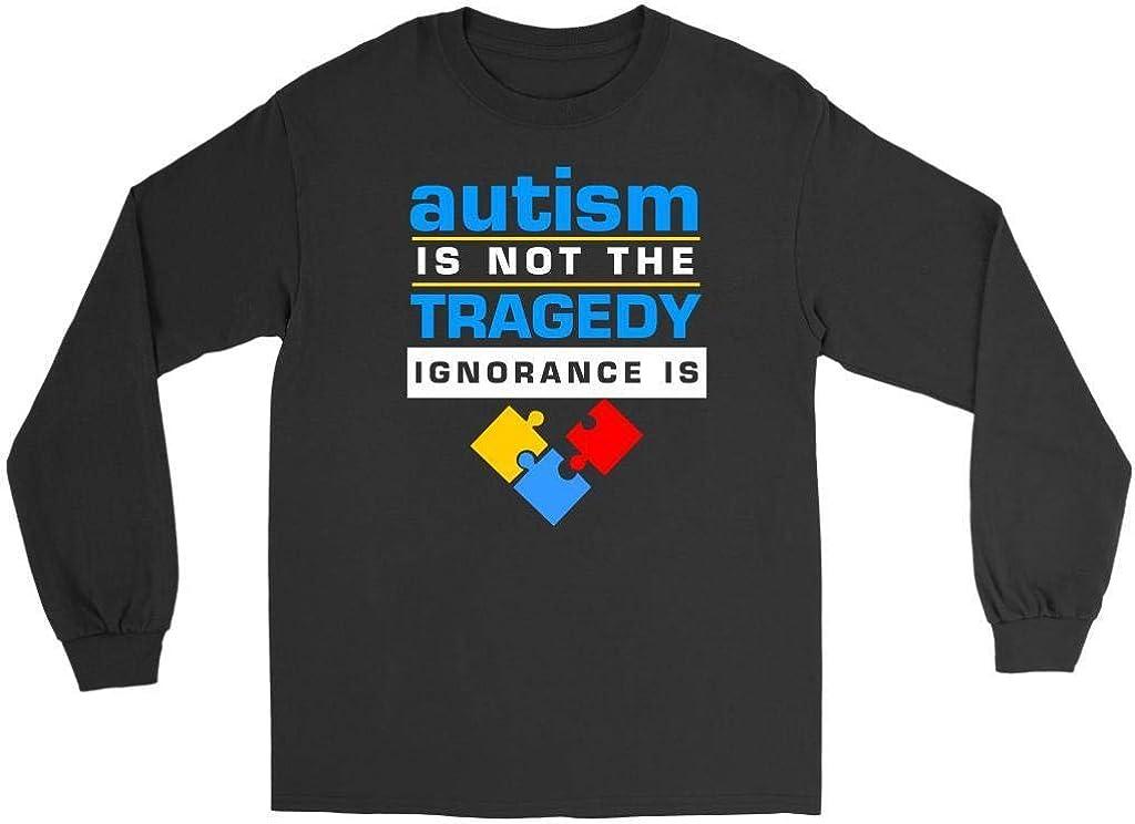 Autism is Not The Tragedy Ignorance is Autism Awareness tee Unisex Sweatshirt tee