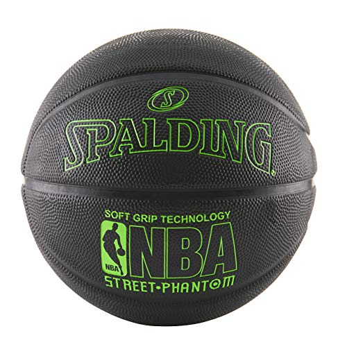 (Spalding 71024 NBA Street Phantom Outdoor Basketball, Neon Green/Black)