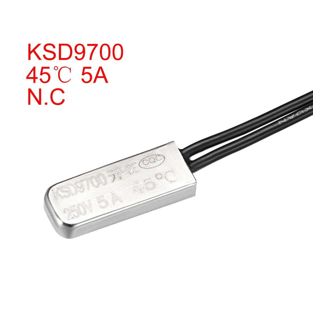 uxcell KSD9700 Thermostat N.O 5A Metal Bimetal Temperature Controller 2pcs 75℃ Normally Open Temperature Switch Thermal Switch