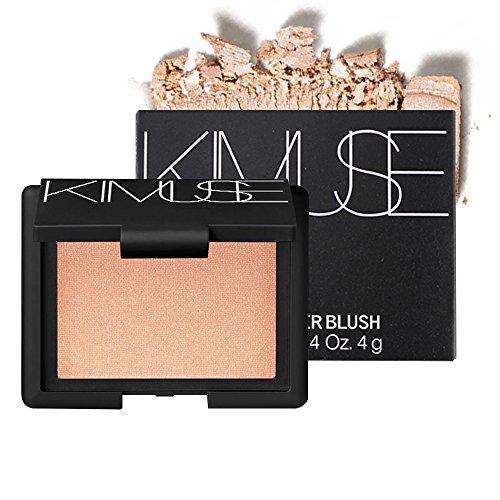 AIKIMUSE Shimmer Pigmented Metallic Baked Highlighter Blush Palette Makeup, Molten Gold, 0.14 oz.