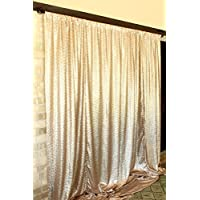 B-COOL 7ftX7ft Matte Gold Sparkly Sequin Photography Backdrops For Girls