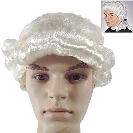 RANRANHOME Falso Pelo Juez Sombrero Blanco Abogado Sombrero Partido Rendimiento Prom Rendimiento Props Accesorios De Vestir: Amazon.es: Hogar