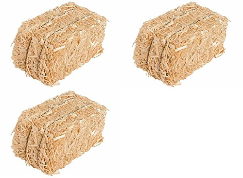 Straw Bale for Indoor or Outdoor Home Decor, 13 in, Set of 3 -