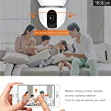 1080P HD Wireless Home Security Camera, Pan/Tilt, Support Phone PC Remote View, Support Wireless Alarm sensors for Linkage Alarm, Two Way Audio&Night Vision Baby Camera WiFi Camera