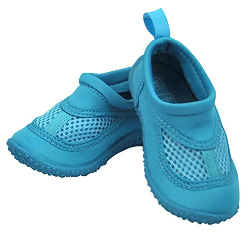 Infant Toddler Unisex Water Sand and Swim Shoes by Iplay - Aqua - 5 Infant from i play.