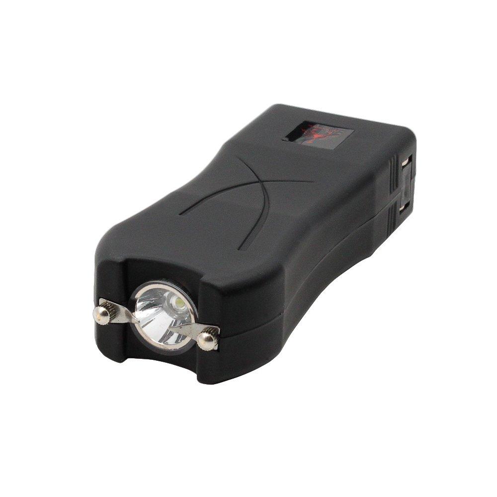 Red Scorpion Mini Stun Gun 398-39 Billion Volts Rechargeable with LED Tactical Flashlight (Black)