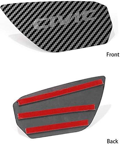 L/&U 4 Pezzi Interno Maniglia Decorazioni Portello della Copertura Ciotola Trim Sticker per Il 10 Gen Honda Civic 2016-2019,Blu