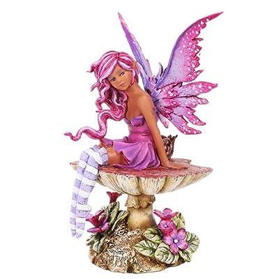 Amy Brown Licensed Magenta Fairy Statue Polyresin Figurine Home Decor