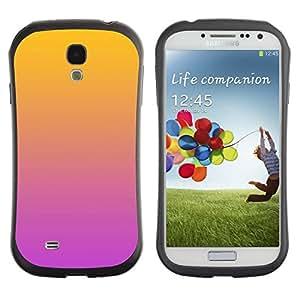 """Hypernova Slim Fit Dual Barniz Protector Caso Case Funda Para SAMSUNG Galaxy S4 IV / i9500 / i9515 / i9505G / SGH-i337 [Degradados de color Naranja Rosa Púrpura""""]"""