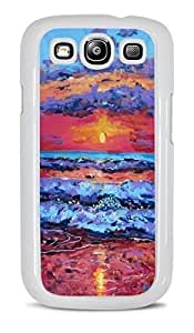 Sunset over Ocean White Hardshell Case for Samsung Galaxy S3