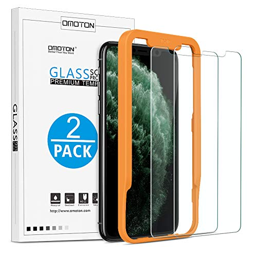 OMOTONTemperedGlassScreenProtectorCompatiblewith Apple iPhone 11 Pro/iPhone Xs/iPhone X 5.8 inch [2Pack]